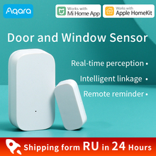 Aqara porta e janela sensor para xiaomi casa inteligente mini porta sensor zigbee conectar mijia gateway 3 trabalho para homekit mi casa app