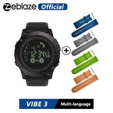 Original Zeblaze VIBE 3 กีฬา Smartwatch 33 เดือนสแตนด์บาย 24 H การตรวจสอบสภาพอากาศสมาร์ทนาฬิกาสำหรับ IOS และ Android