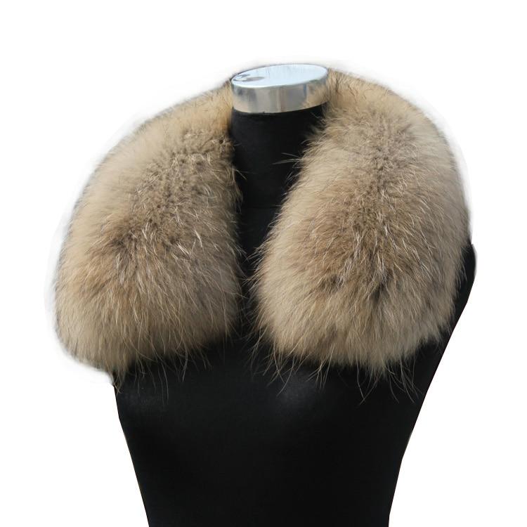 Luxury Real Raccoon Fur Scarf Women 100% Natural Raccoon Fur Collar Winter Warm Fur Collar Scarves 70*16cm