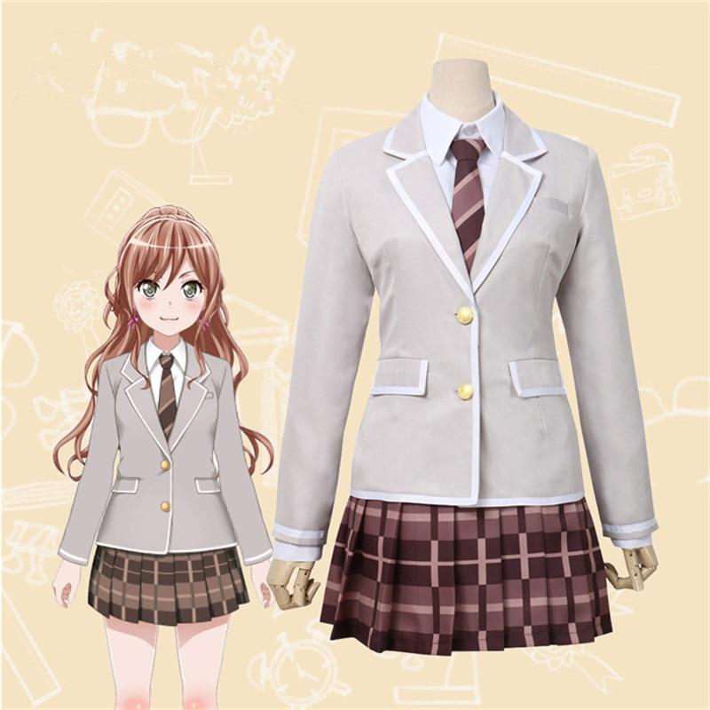 Anime BanG Dream 2nd Season Imai Lisa Cosplay Costume BanG Dream Girls High School Uniform Cosplay Halloween Outfit  Dresses