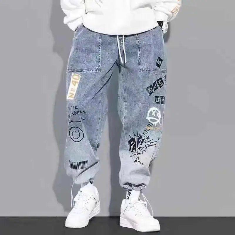 Брюки-карго мужские с эластичным поясом, модные штаны для бега в стиле хип-хоп, Повседневная Уличная одежда