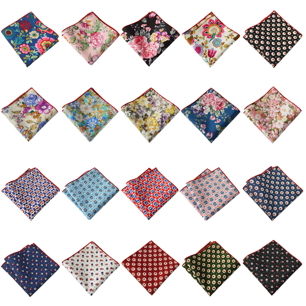 Men Pocket Square Handkerchief Colorful Floral Printed Hanky Party Wedding