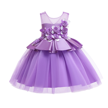 Flower Girls Dress Pleated Ball Gown Dress Girls Photography Props Formal Party Birthday Wedding Pageant Party Kids Girls Dress недорого