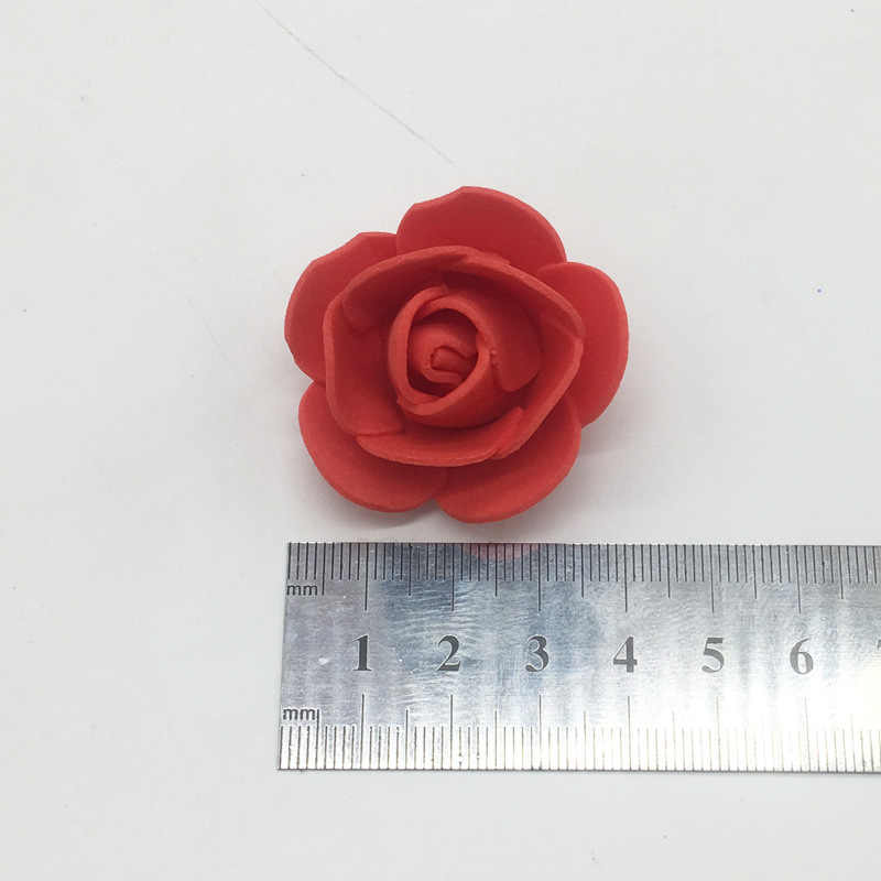 זול קצף עלה 500pcs 3.5cm מלאכותי קצף פרח ראש DIY עלה דוב אביזרי קישוט PE חג האהבה מתנה
