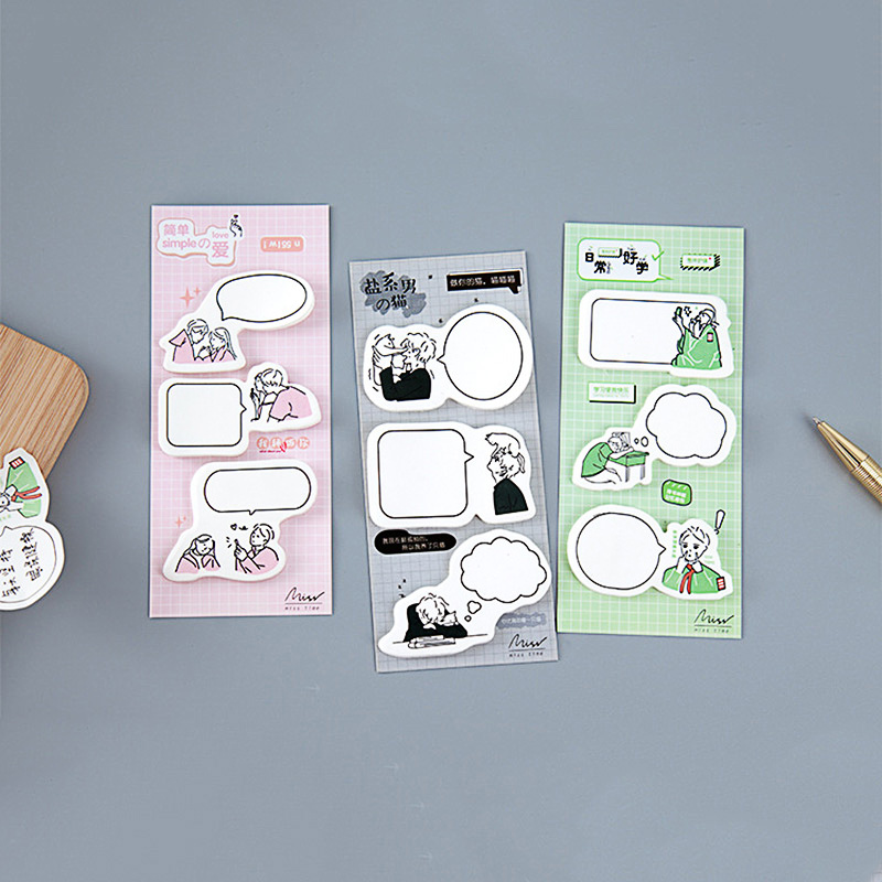 60 Sheets Simple Dialog Box Sticky Notes Cute Memo Pad Message Label Stickers Notepad For Kids School Office Stationery Supplies