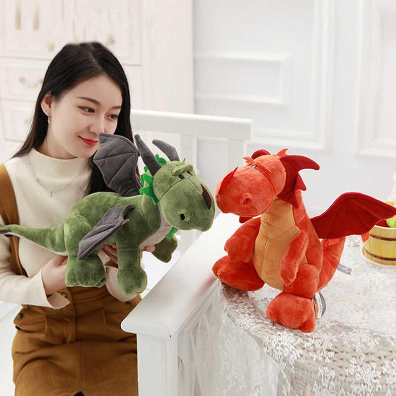 Crianças dinossauro brinquedos de pelúcia duplo-cabeças dragões recheado bonecas dos desenhos animados de algodão boneca brinquedos para crianças presentes de aniversário transporte da gota