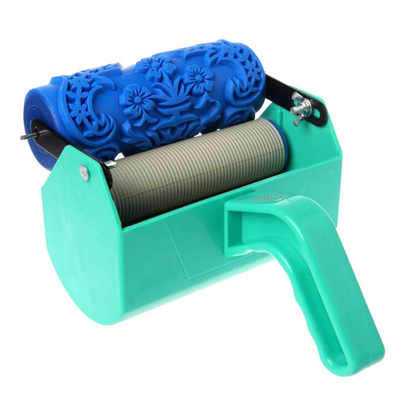 New Pattern Brush Decorative Texture Roller with Embossed Plastic Handle with Monochrome Painting Machine for Wall Decoration