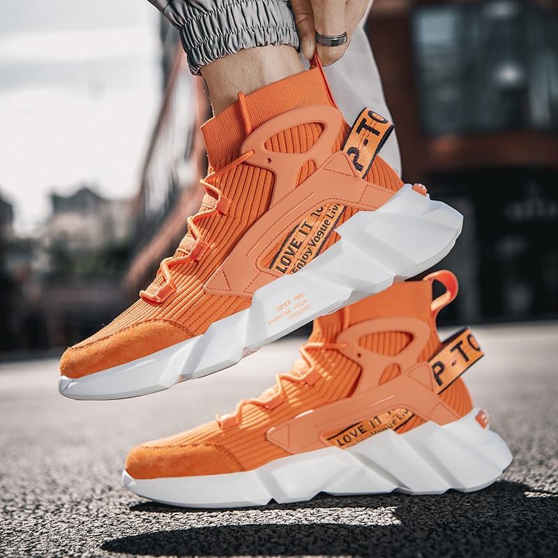 Fashion Orange High Top Running Shoes