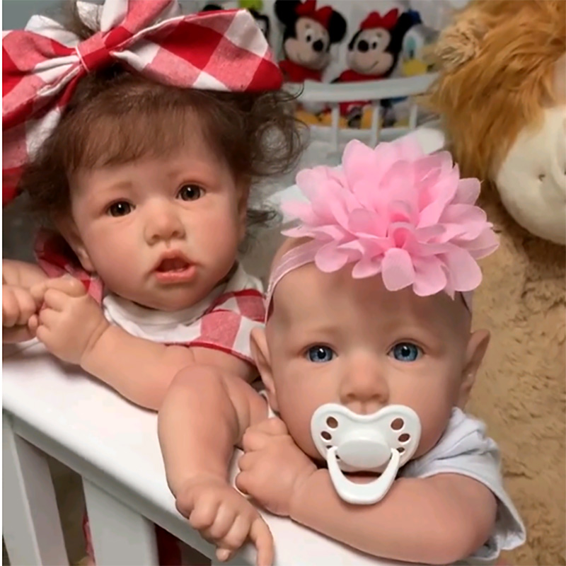 Reborn Baby Dolls 55cm Babies DOLL Newborn Realistic Lifelike Toddler Dolls Full Soft Silicone Body Bonecas With Crooked Mouth