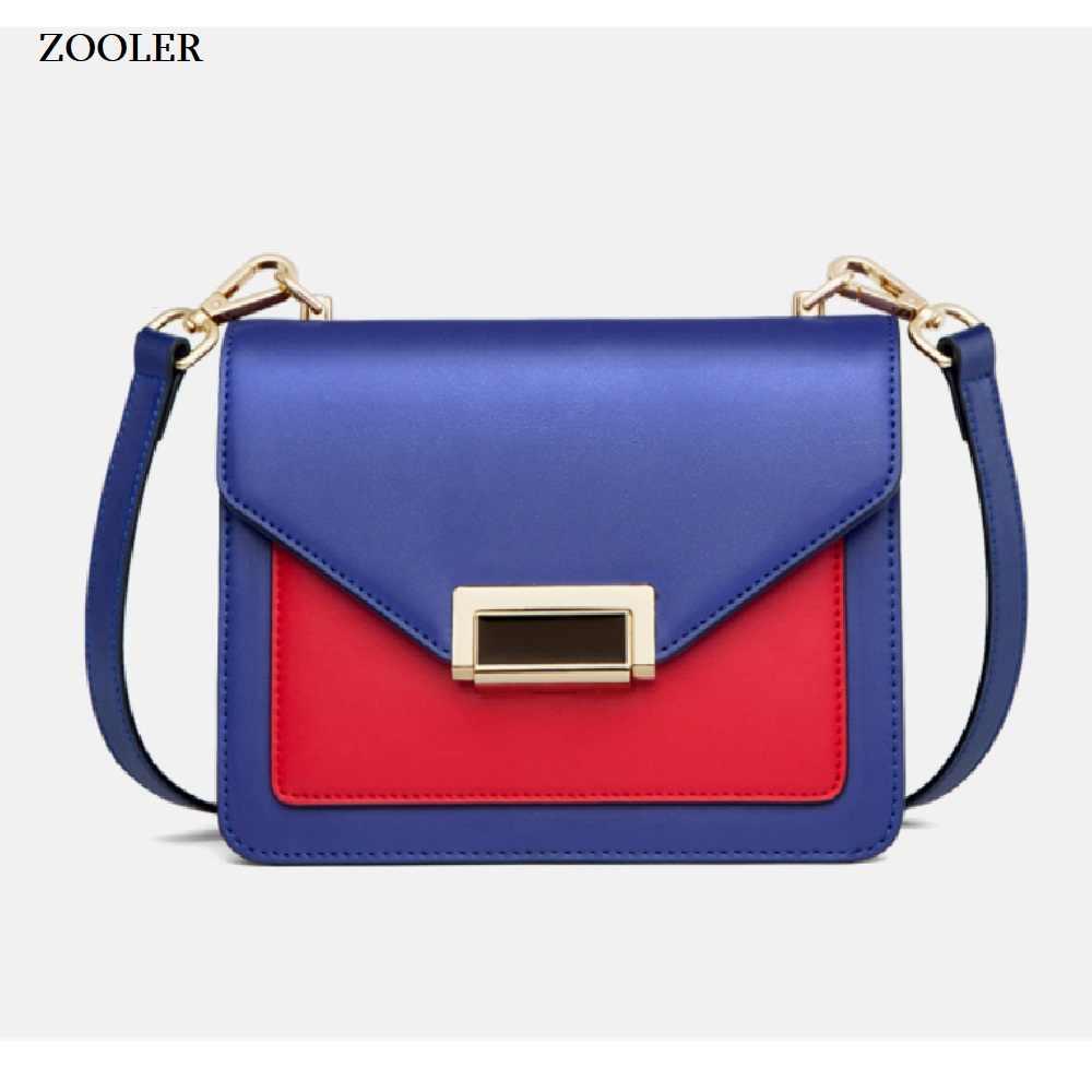 Saco de mulher de couro genuíno ZOOLER 2019 bolsas de luxo mulheres sacos de designer de ombro mensageiro saco corpo cruz bolsa feminina # Wp212