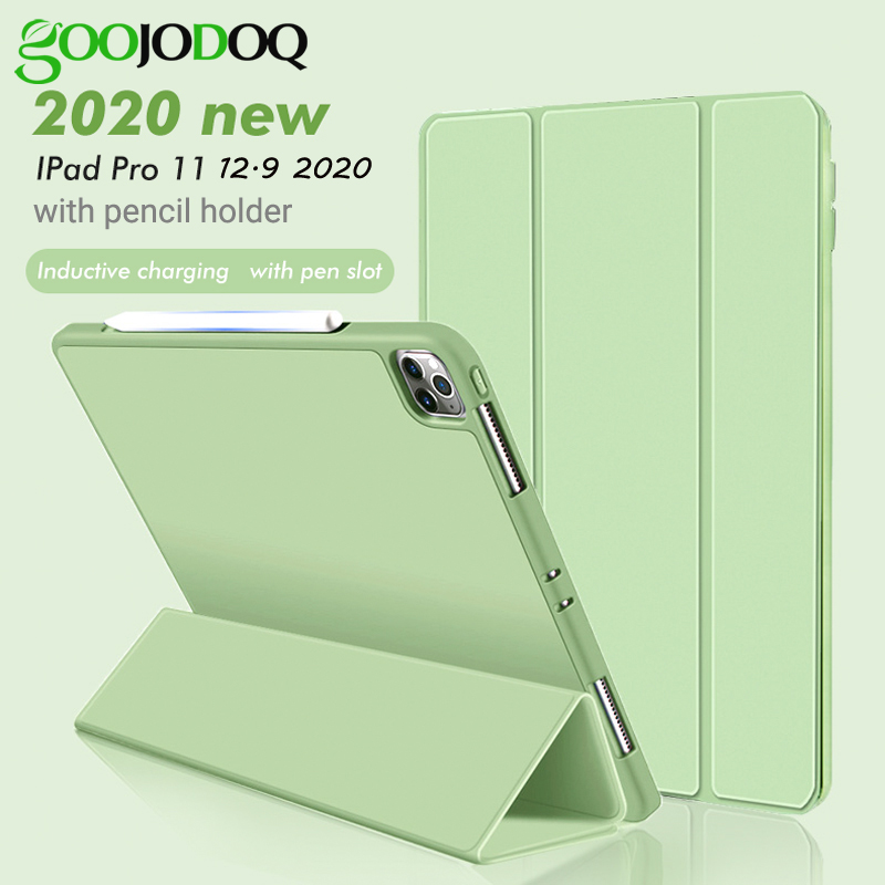 GOOJODOQ For IPad Pro 2020 Case, For IPad Pro 11 Inch 2020 2nd Generation Case With Pencil Holder For IPad Pro 12.9 4th Case
