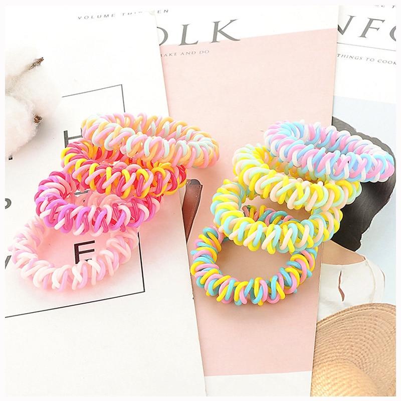 2PC Fashion Phone Line Girls Ponytail Elastic Hair Bands Sweet Female Head Bands Women's Hair Accessories HeadWear
