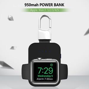 Image 1 - Dây Sạc Không Dây Qi 950 MAh Mini Powerbank Cho Apple IWatch 5 4 3 2 1 Di Động Gắn Ngoài Pin ngân Hàng Sạc Không Dây