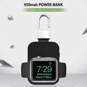 Image 1 - שעון Qi מטען אלחוטי 950mAh מיני PowerBank עבור אפל iWatch 5 4 3 2 1 נייד חיצוני סוללה כוח בנק מטען אלחוטי
