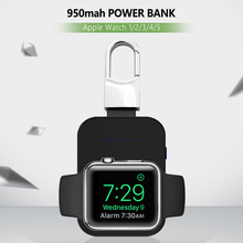 Watch Qi Wireless Charger 950mAh Mini PowerBank for Apple iWatch 5 4 3 2 1 Portable External Battery Power Bank Wireless Charger
