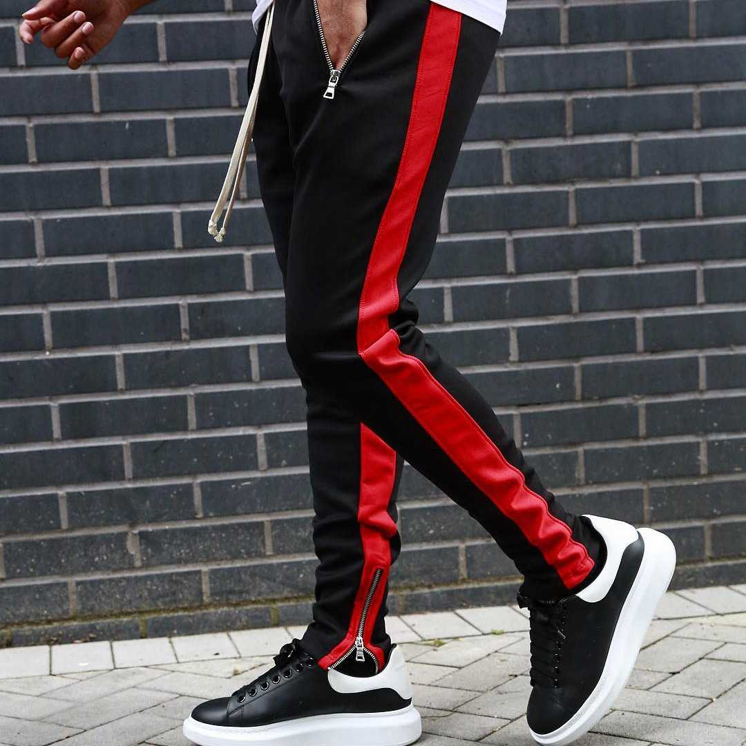Erkekler spor koşu pantolon spor erkek koşu pantolonu sıska Sweatpants erkek spor alıştırma külodu pantolon erkek spor spor eşofman