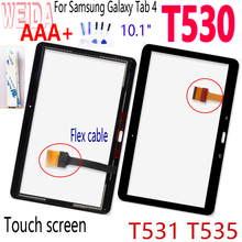 цена на WEIDA 10.1 For Samsung Galaxy Tab 4 SM- T530 T531 T535 Touch Screen Senor Panel with Tape+Tool For T530 Panel Glass Sensor