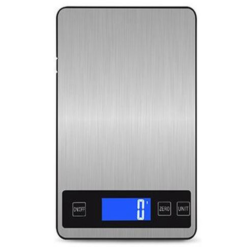 Digital Kitchen Scale Rechargeable 10Kg / 1Gkg Charging Press Button Waterproof Cooking Scale