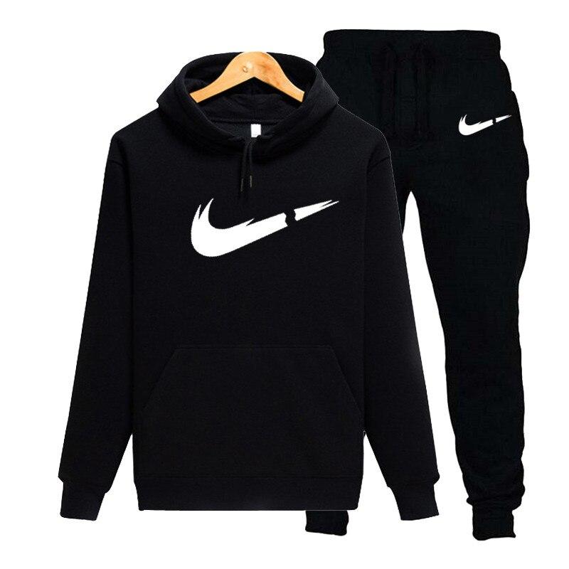 Autumn New Men's Fashion Hoodie Suit Suit Popular Sweatshirt Men's Track And Field Clothing Suit Men's Clothing 2019