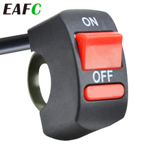 Motorcycle ON/OFF Button Connector Push Button Switch Motorcycle Handlebar Switches for Moto Motor ATV Bike DC12V/10A