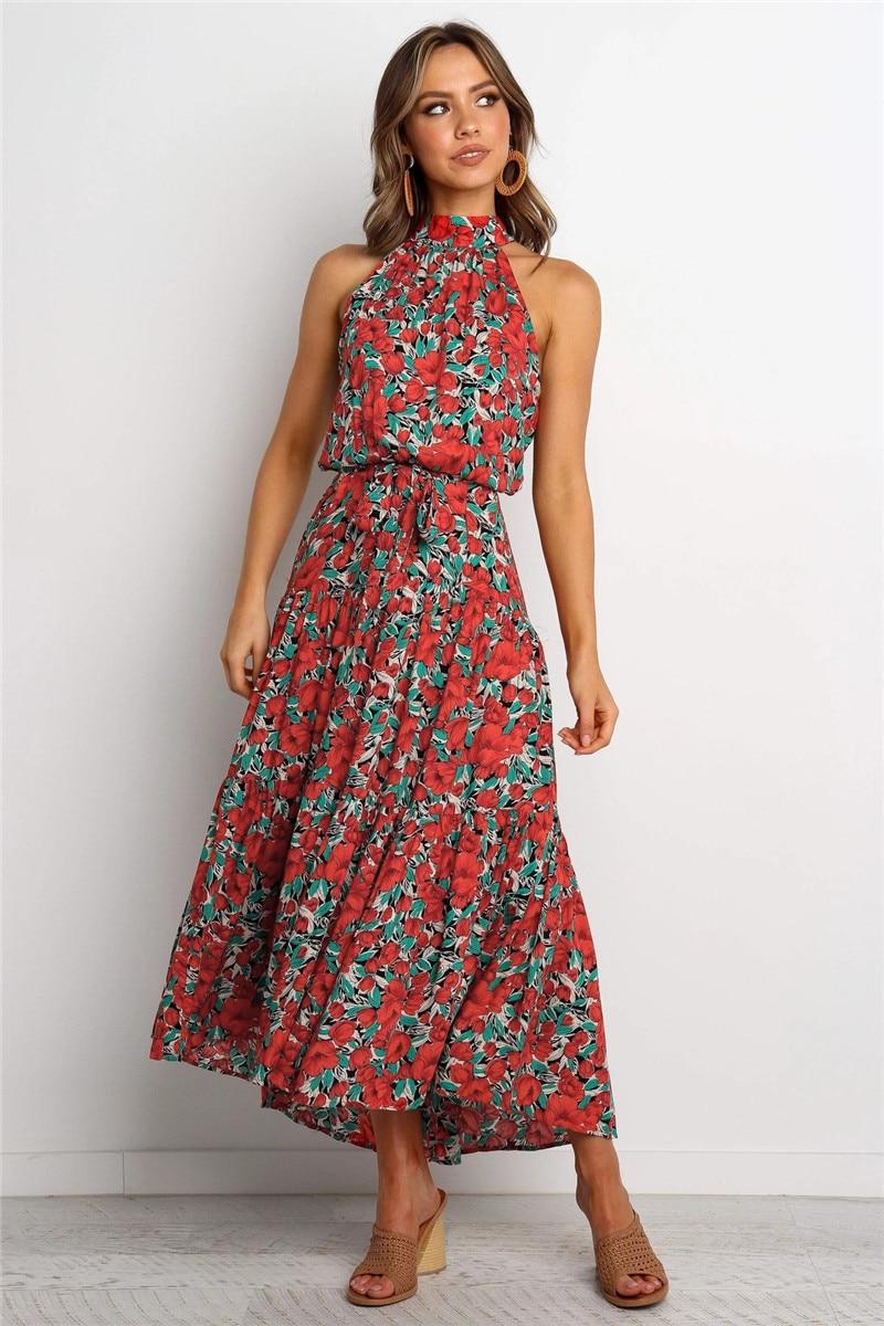 halter midi boho summer dress15