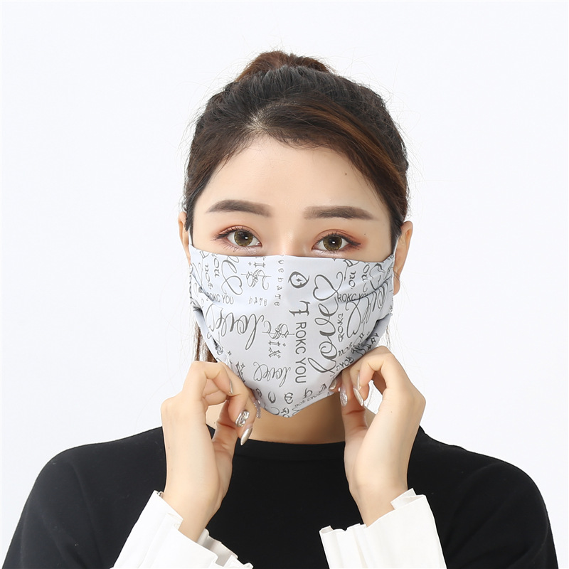 New Products 2019 Spring Summer Portable Women's Sun-resistant Stereo Printed Face Mask Dustproof Breathable Face Mask Wholesale