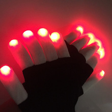 2pcs/1pair Hotsale Led Luminous Gloves Glow Party Light Cool Knitted Stage Props Halloween Decorations Gloves halloween colorful finger glow led gloves