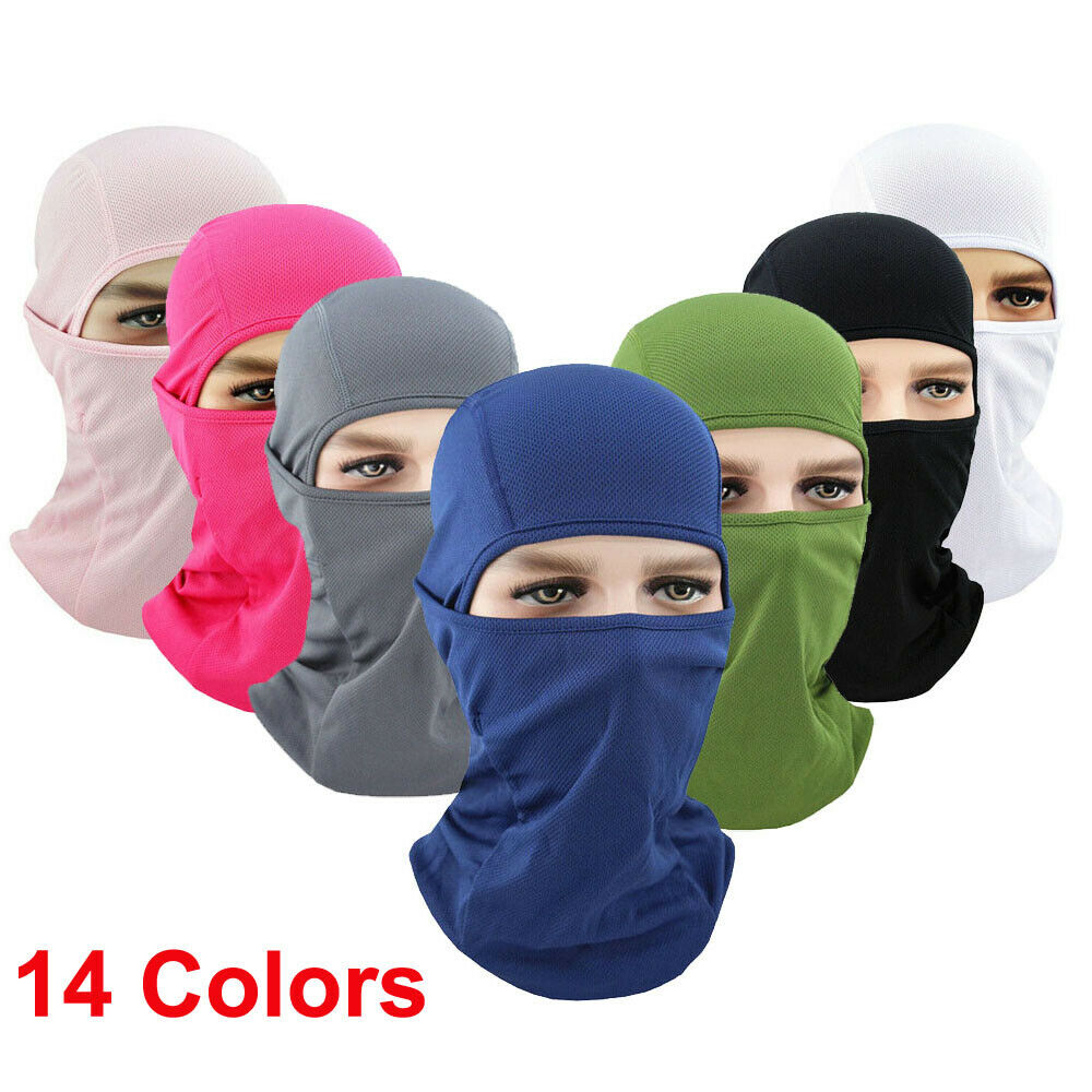 Cool Soft Outdoor Cycle Full Face Mask Lycra Balaclava Ultra Thin Neck Warmer Ski Mask UV Protection