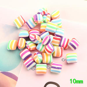 Clay Pendants Jewelry-Making Candy Charms Polymer Decoration Ornament Sugar Sweet 10pcs