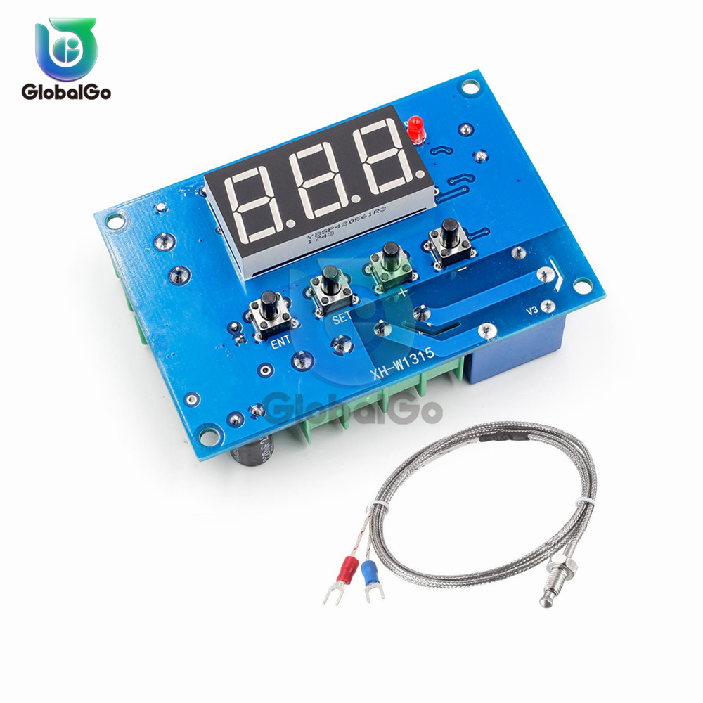 XH-W1315 K type Thermocouple High Temperature Digital Thermostat One Way Relay Output -30-999 Degree Temperature Controller