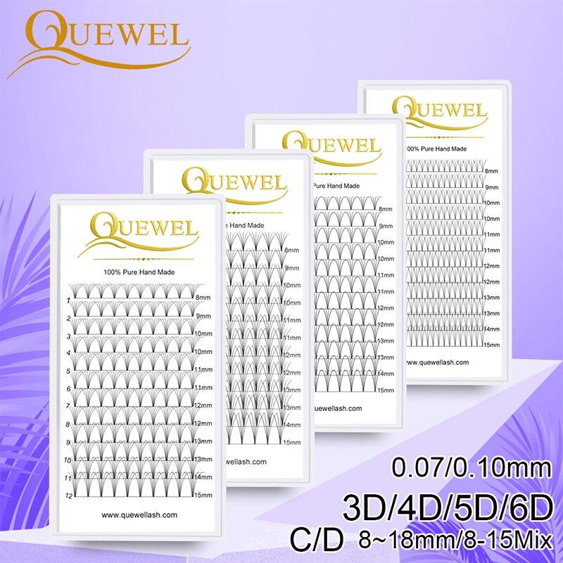 Premade Volume Fans Lash Russian Volume Professional Eyelash Extensions C&D Curl Eyelash Extension Faux Mink Quewel 3D/4D/5D/6D