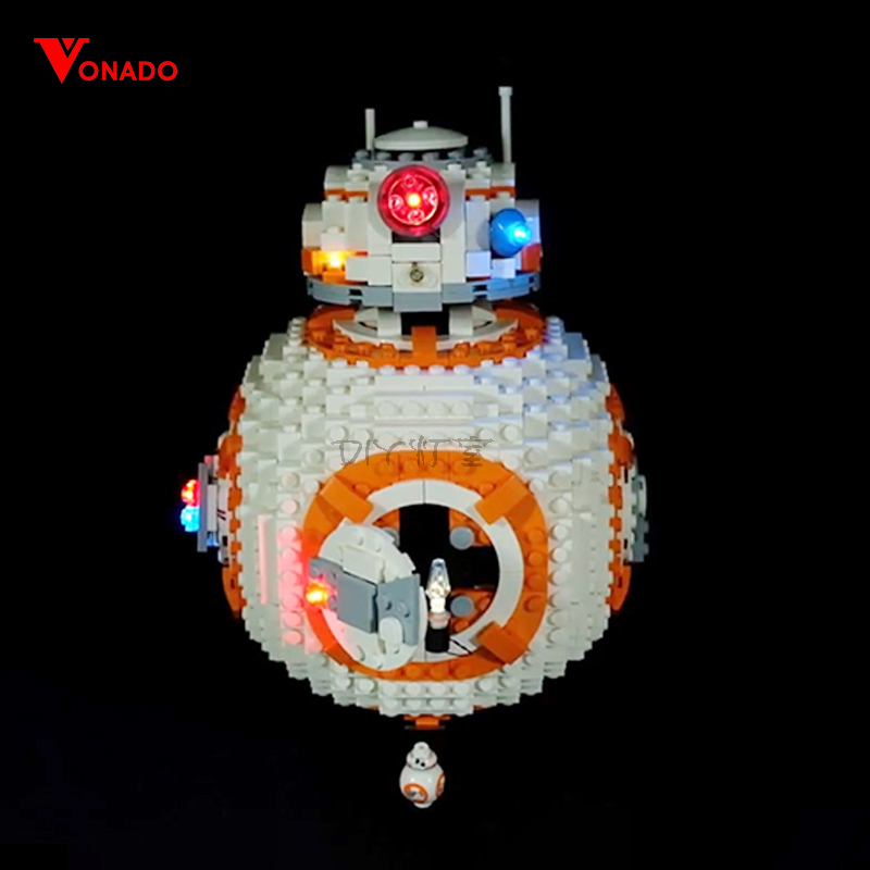 Led Light Set Compatible For <font><b>Lego</b></font> 75187 <font><b>star</b></font> <font><b>wars</b></font> <font><b>bb8</b></font> Robot starfighter Building Blocks 05128 Toys Gift (only light+Battery box) image