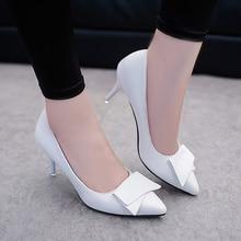 Temperament Elegant White High Heels Stiletto Womens Shoes B