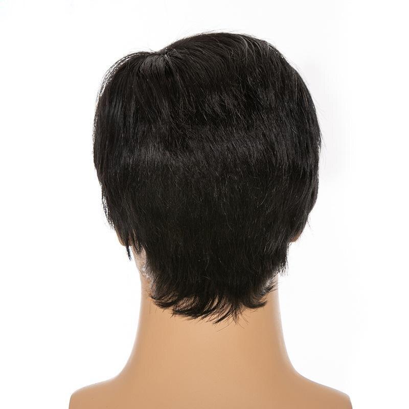 de cabelo curto bob perucas cor natural 05