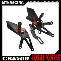 MTKRACING For CB650R CBR650R 2019 2020 Motorcycle Accessories Footrest Set Rear Footpeg Pedal Footrest