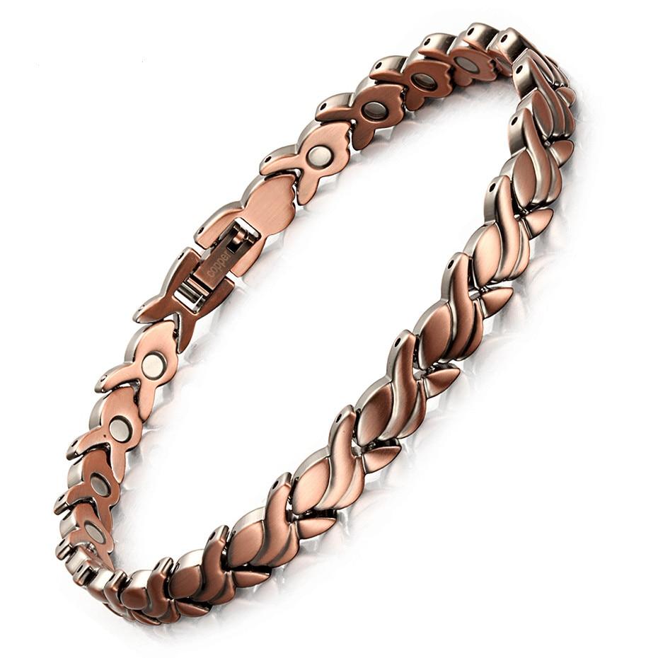 New Fashion Red Copper Magnetic Bio Energy Bracelets & Bangles for Women Healing Magnet Bracelet Female Jewelry