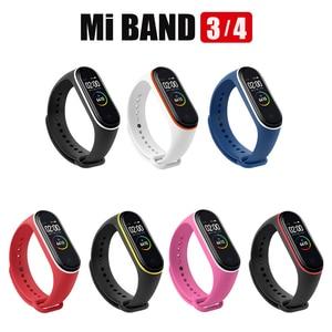 Image 5 - 100Pcs/Pack For Mi Band 3 Strap Miband 4 Wrist Strap silicone Mi Band 4 3 Wristband Replacement Miband 3 4 Bracelet Silicone