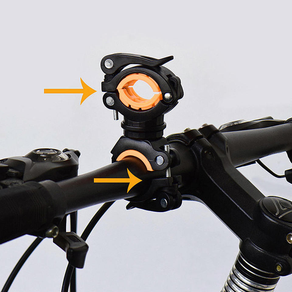 1x Cycling Bike Flashlight Clamp Torch Stand 360 Degree Rotation Mount Bracket