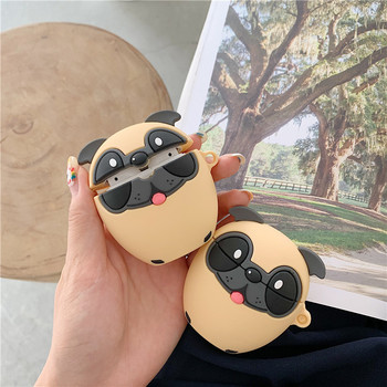 For AirPod 1 2 Case 3D Brazil Dog Pug Cartoon Soft Silicone Earphone Cases For Apple Airpods Pro Case Cute Cover Funda MNL1 for airpods pro case 3d little bear cartoon soft silicone wireless earphone cases for apple airpod 3 case cute cover funda