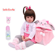 47cm baby toy doll bebe reborn soft silicone vinyl doll baby girl children's house children santa lol gifts(China)