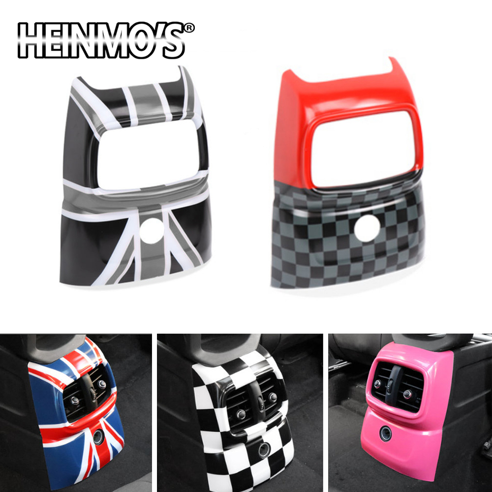 Rear Vent Air Condition Outlet Cover Anti Kick Decoration Sticker Inner Accessories For Mini Cooper JCW Countryman F60 Styling
