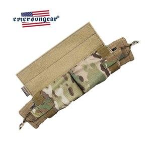 Image 2 - حقيبة إيمرسونجير ماج ذات سحب جانبي مزودة بجيب للمجلة M4 بندقية رموهة التكتيكية مزودة بخطاف وحلقة صيد معدات عسكرية للجيش