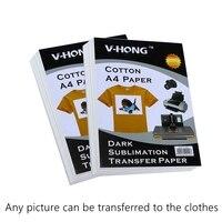 Inkjet Heat Transfer Papier (29.7*21 cm) selbst Jäten Papier A4 T shirt baumwolle Thermische Transfers Druck sublimation papier|paper a4 size|paper a4paper sublimation -