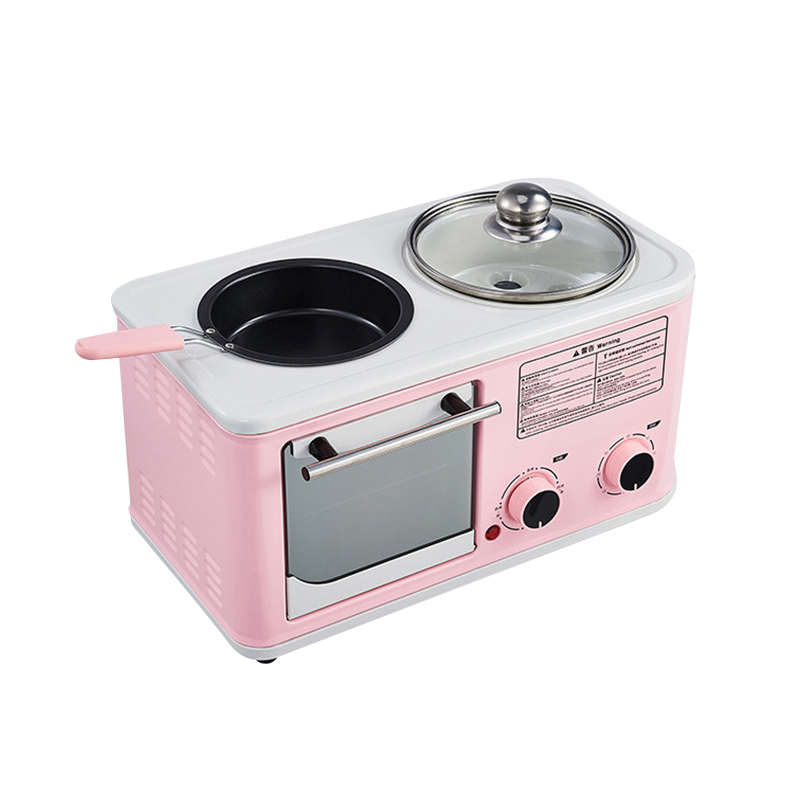 1200W Electric 3 in 1 Household Breakfast Toaster Baking Machine Sandwich Omelette Fry Pan Hot Pot Boiler Food Steamer 1