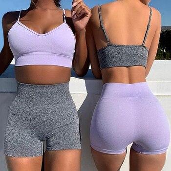 2Pcs Yoga Set Running Sports Suit Tracksuit Women Bra Sport9s