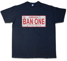 BAN ONE SIGN LICENSE PLATE T-SHIRT Smokey and the Car Bandit Pontiac Dodge Text lucky luke vol 33 the one armed bandit