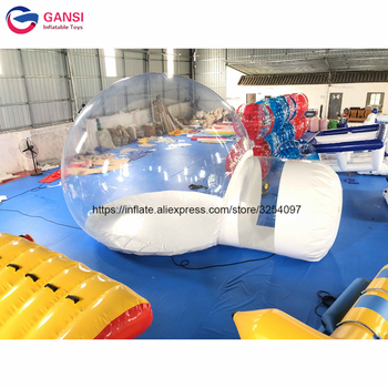 Free shipping customized size inflatable dome tent with entrance clear inflatable bubble tent for camping factory inflatable bubble camping tent with double rooms waterproof photobooth bubble sleeping tents inflatable clear dome tent