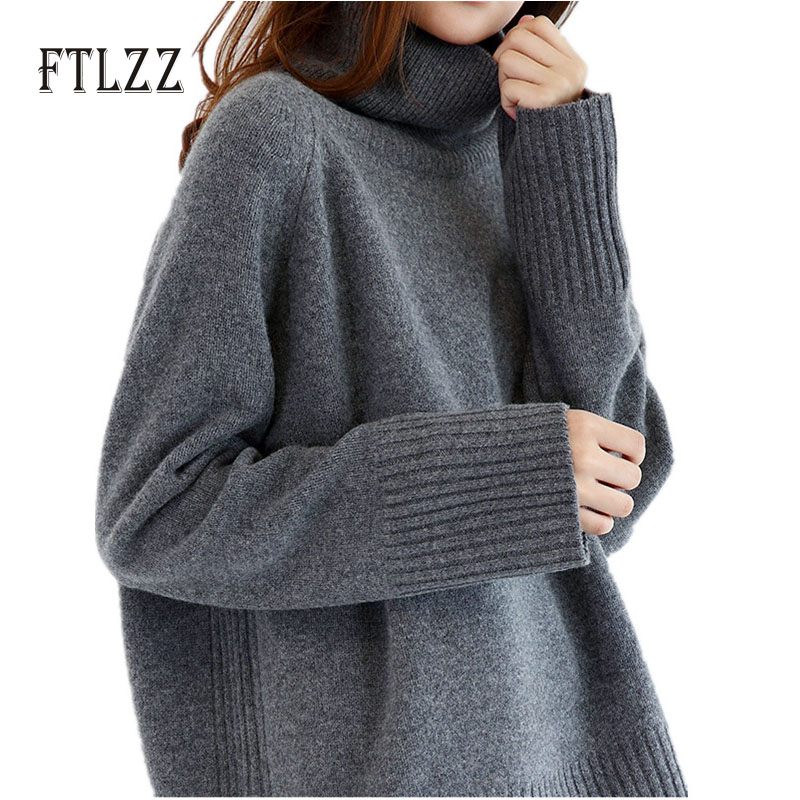 2019 New Womens Spring Sweaters Fashion Ladies Korean Streetwear Style Loose Pullover Knit Tops Stand Collar Long Sleeve Sweater