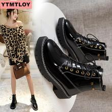 2019 winter new round head faux leather zipper style black sexy prostitute boots short tube wild cross straps women's boots cross straps belt buckle faux fur short boots