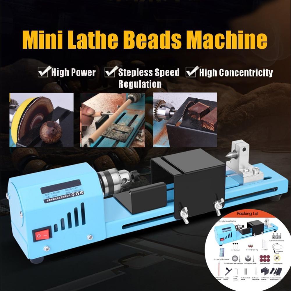 150W DIY Holzbearbeitung Holz drehmaschine Mini Drehmaschine Werkzeug Fräsen maschine Schleifen Polieren Perlen Bohrer Dreh Werkzeug Drehmaschine Standa